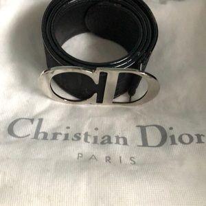 Dior belt with metal buckle